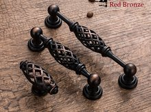 10Pcs/Lot Premintehdw Antique Cabinet Hardware Furniture Birdcage Handle Pull Knob Bird Cage(China)