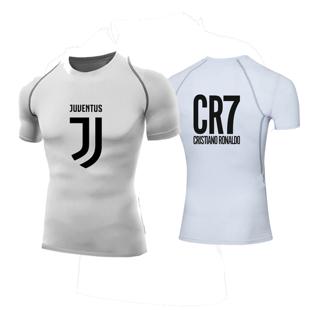 2018 cr7 shirt cristiano ronaldo jersey Juventus t shirts CR7 JUVE  compression shirt men short Sleeves quick dry tops  7 fans 299bd08b3