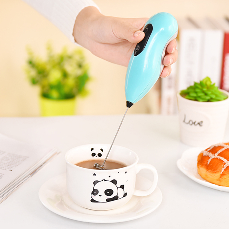 1Pc Stainless Steel Manual Milk Frother Hand Pump Milk Foamer Kitchen Tool FI