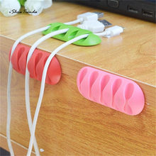 ISHOWTIENDA New 1pc 5 Hanger 7.8*6.6*1.2cm Multipurpose Wire Cord Cable Tidy Holder Drop Clips Organizer Line Fixer Winder(China)