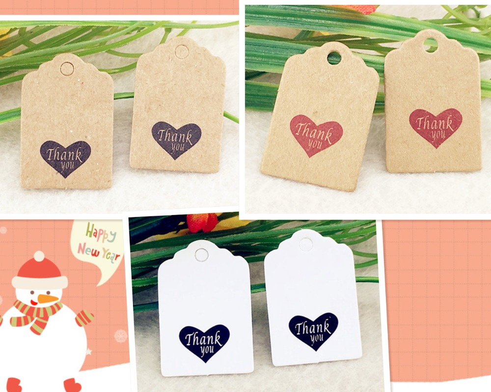 Craft New Round Kraft DIY Heart Favor Gift Paper Cards Tags Label Hang