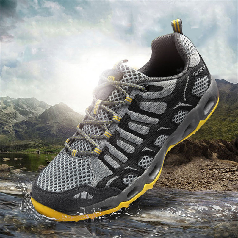 Mens Hiking Shoes Comfortable Leather Mesh Casual Shoes Outdoor Unisex Hiking Shoes Breathable Sports Large Size Boots 36-46Mens Hiking Shoes Comfortable Leather Mesh Casual Shoes Outdoor Unisex Hiking Shoes Breathable Sports Large Size Boots 36-46