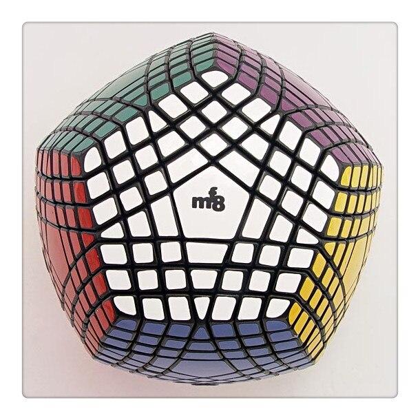 MF8 Teraminx Cube magique Puzzle noir (collant) 7*7 Dodecahedron noir Cubo Magico jouets éducatifs cadeau idée jeux