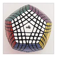 MF8 Teraminx Magic Cube Puzzle Black (stickered) 7*7 Dodecahedron Black Cubo Magico Educational Toys Gift idea Games