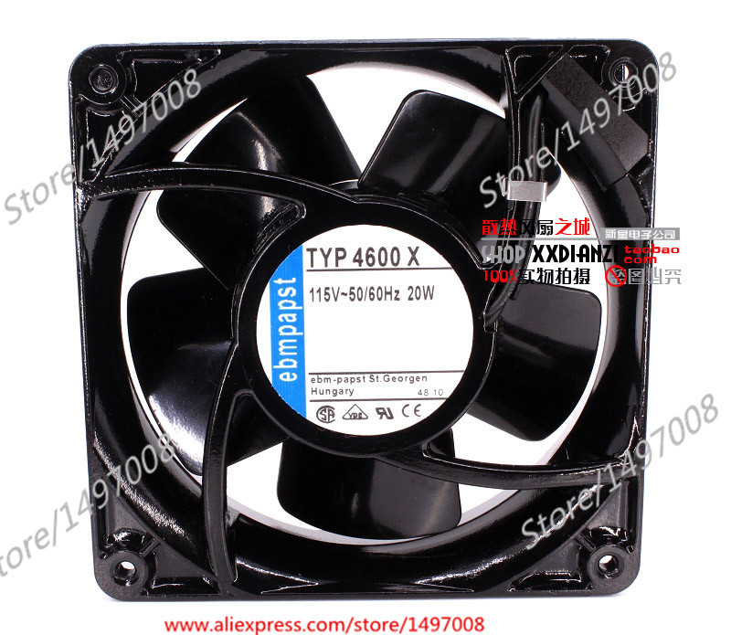 Free Shipping For ebmpapst 4600 X 4600X DC 115V 20W 2-pin 120X120X38mm Server Square fan free shipping 370 6072 03 540 6706 01 server fan for sun netra440 n440 tested working
