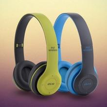 Casque Audio Estéreo Plegable Auriculares inalámbricos Bluetooth Manos Libres con Micrófono de Cancelación de Ruido Auriculares Apoyo TF Tarjeta de Radio FM