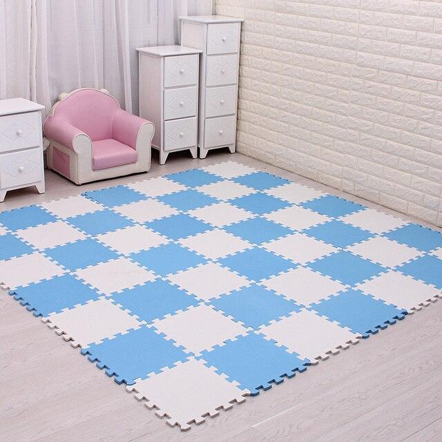 Dziecko piankowa mata do zabawy z puzzli EVA/dzieci dywaniki zabawki dywan dla dzieci blokujące płytki podłogowe do ćwiczeń, każdy: 29cmX29cm