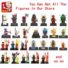 Single sale Legoing Ninjago Figure Blocks Dolls Kai Jay Cole Zane Lloyd Sensei Legoings Figures Ninja Garmadon Pythor Chen Toys(China)
