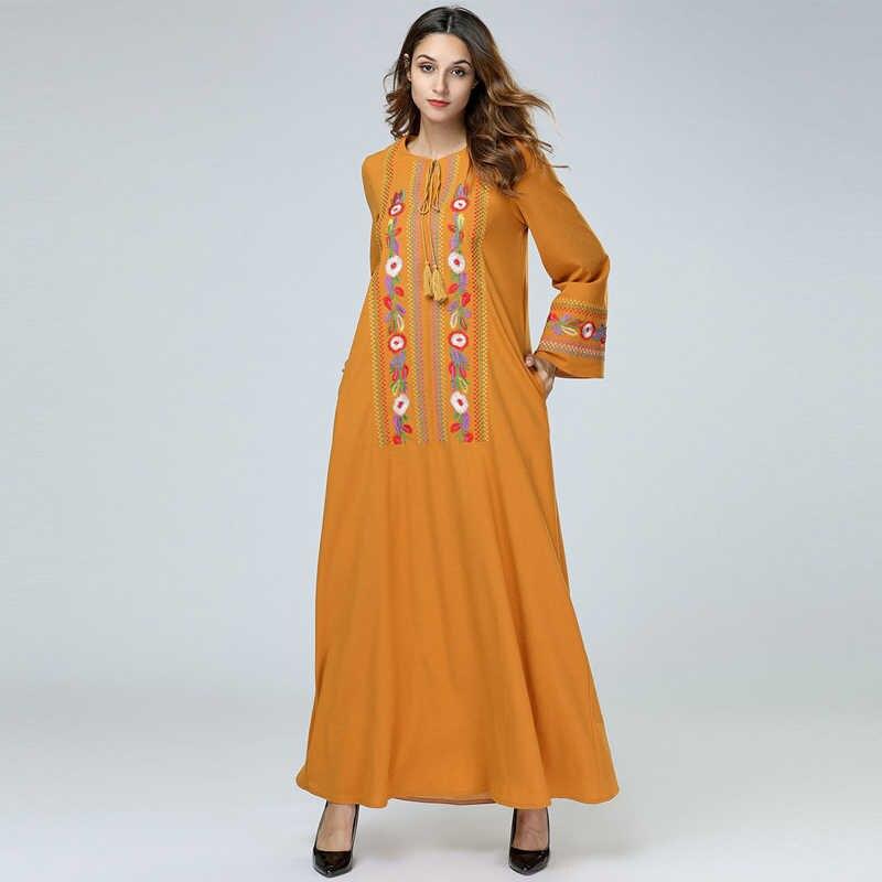 Весна абайя s женский Восточный халат Катара ОАЭ ислам Бангладеш мусульманское платье хиджаб цзилбаб халат Абая Дубай турецкий ислам ic одежда