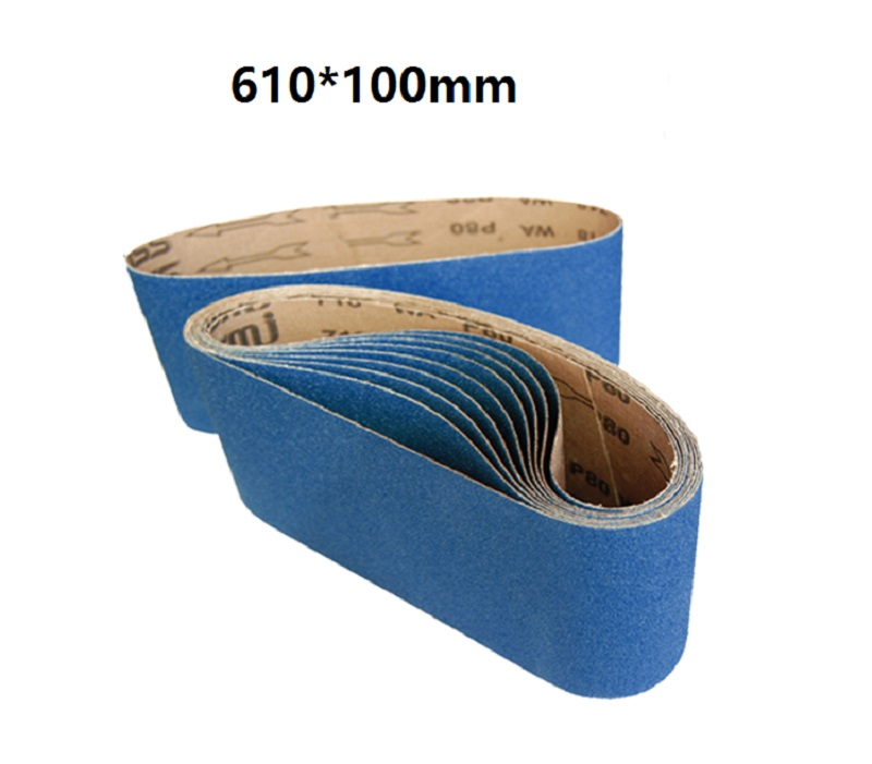 New 10pcs 610*100mm  Abrasive Sanding Belt On 4