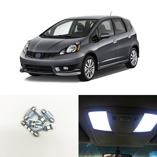 Fit For Honda Fit Jazz 2009 2013 Interior Package Led Light Bulbs