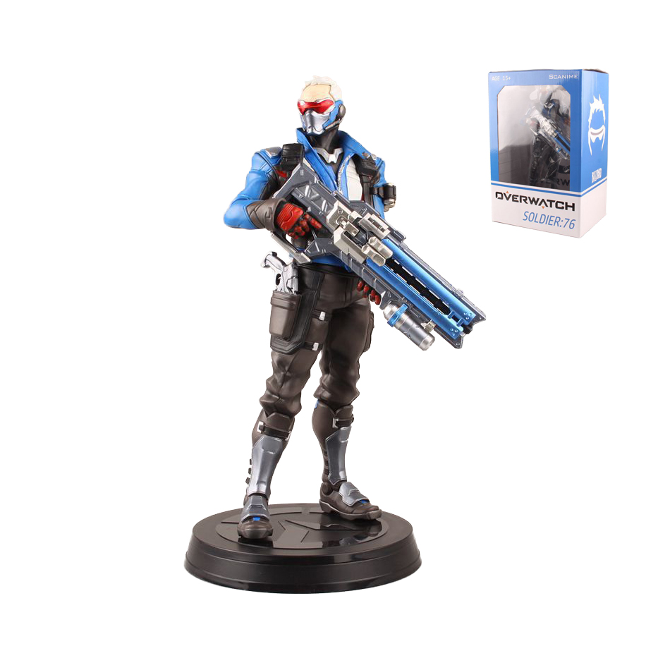 BOX SOLDIER:76 Limited Edition Blue Action Figure Toys PVC 31CM kids Gifts Collection Model Game 0813 new hot 17cm avengers thor action figure toys collection christmas gift doll with box j h a c g