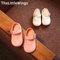 2017 spring new Fashion kids wedding shoes genuine leather girls pink toddler children flat girls shoes princess super perfect