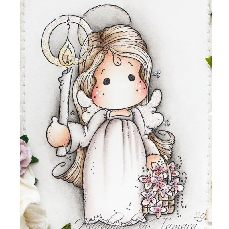 Clear Silicone Rubber Stamp Sheet for Scrapbooking Card Making Little Girl