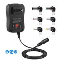 Fuente de alimentación de tensión regulable de 3-12 V, Cargador usb adaptador de 30 W, adaptador de corriente multifunción