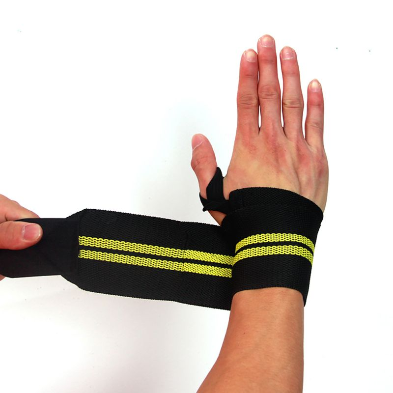 """WEIGHTLIFTING TRAINING FITNESS WRIST SUPPORT COTTON WRAPS BANDAGE STRAPS 12/"""""""