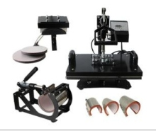 8 in 1 combo heat press machine for t shirts/mugs/caps/trays combo heat press machine