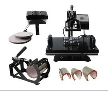 8 in 1 combo heat press machine for t shirts mugs caps trays combo heat press