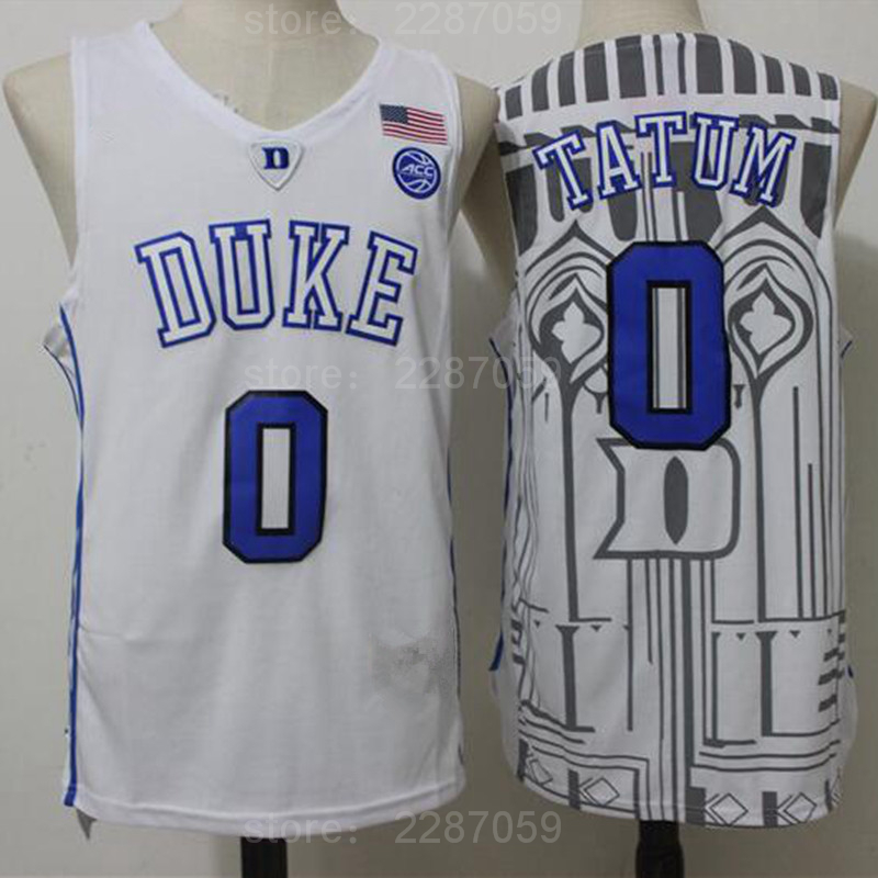 reputable site e28db 20846 Ediwallen 0 Jayson Tatum College Jersey Duke Blue Devils Men Basketball  Jerseys For Sport Fans All Stitched Blue Black White