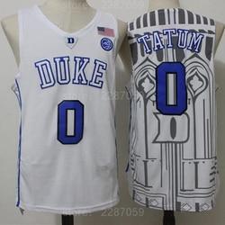 Ediwallen 0 Jayson Tatum College Jersey Duke Blue Devils Men Basketball Jerseys For Sport Fans All Stitched Blue Black White
