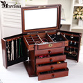 Case Necklace Rings Jewelry Holder Storage Organizer Case Jewelry Display Gift Box Beauty Vanity Drawer Jewelry Box