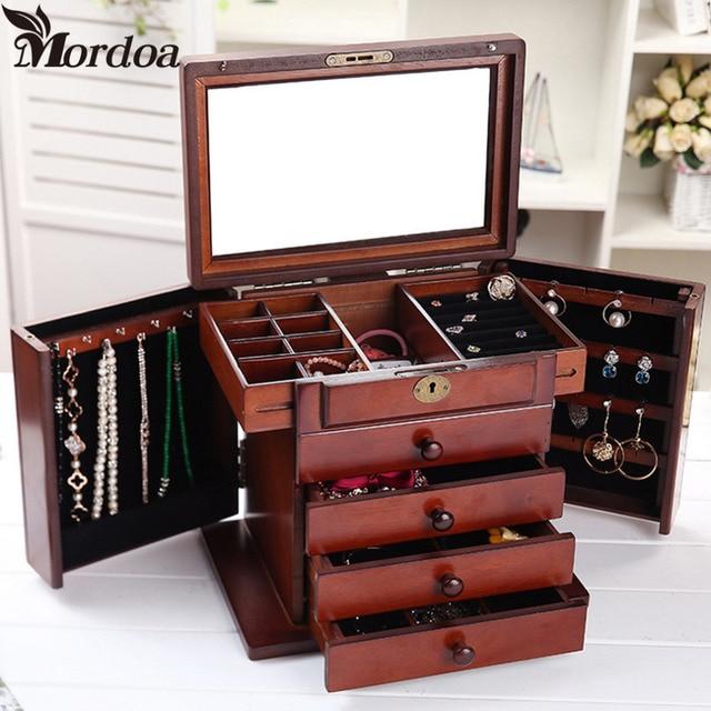 Case Necklace Rings Jewelry Holder Storage Organizer Case Jewelry