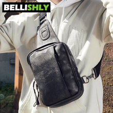 Купить с кэшбэком Bellishly 2019 men's bag over the shoulder a luxury bag for man travel bags Male messenger Best PU leather modis crossbody bolsa