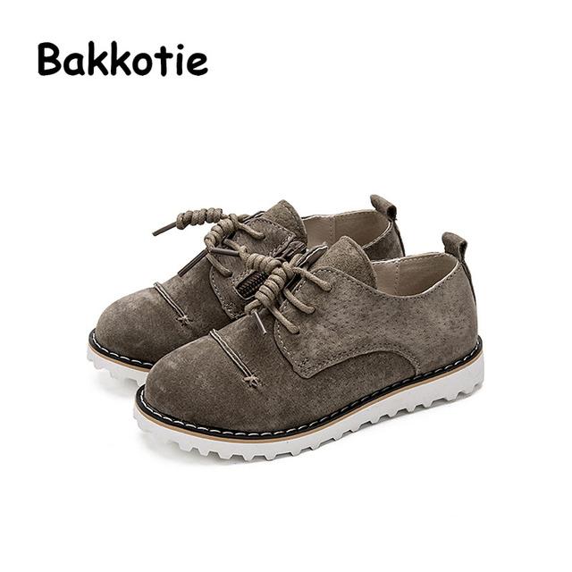 Bakkotie 2017 Novas Crianças Moda Primavera Outono Baby Boy Kid Sapato Casual Marca Retro Respirável Lazer Lace Up Comfortbale