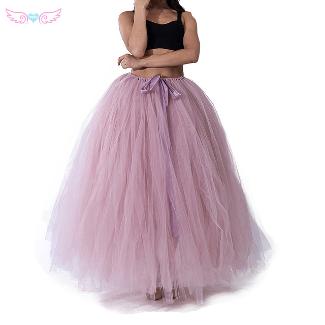 3f0d7ccb0 Dusty Pink and Floor Length Tulle Skirt -for Flower Girl,Rustic Wedding - Tulle