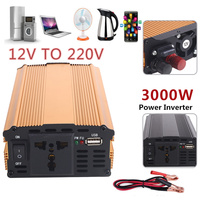 3000W Portable Premium Power Inverter Electronics Automobiles Vehicles Tools Converter Household Travel