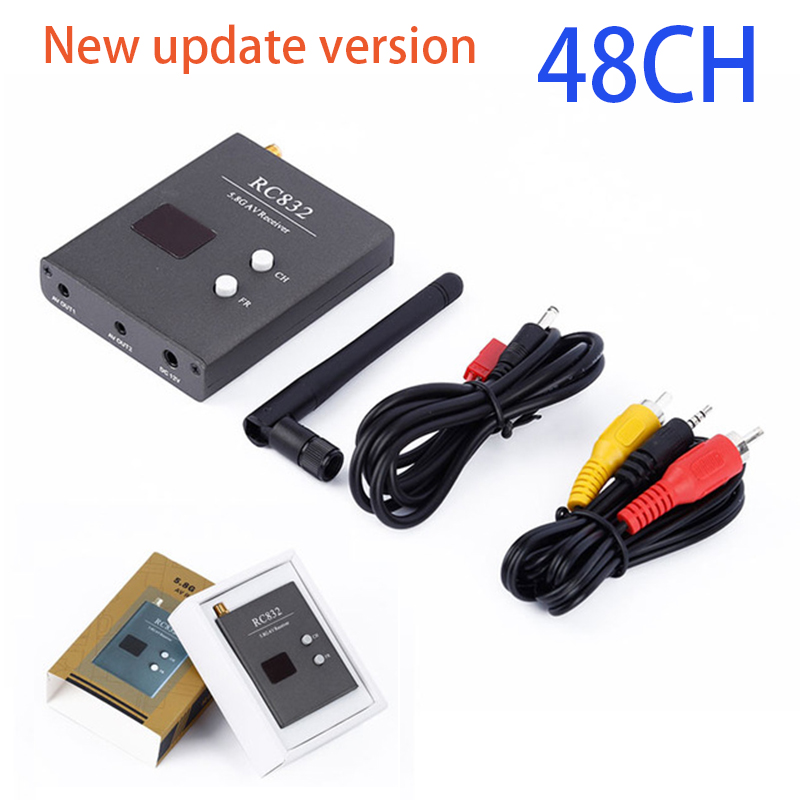 High quality RC832 Boscam FPV 5.8G 48CH Wireless AV Receiver for RC Drones monitor FPV Transmitter Quadcopter DIY Spare PartsParts & Accessories   -