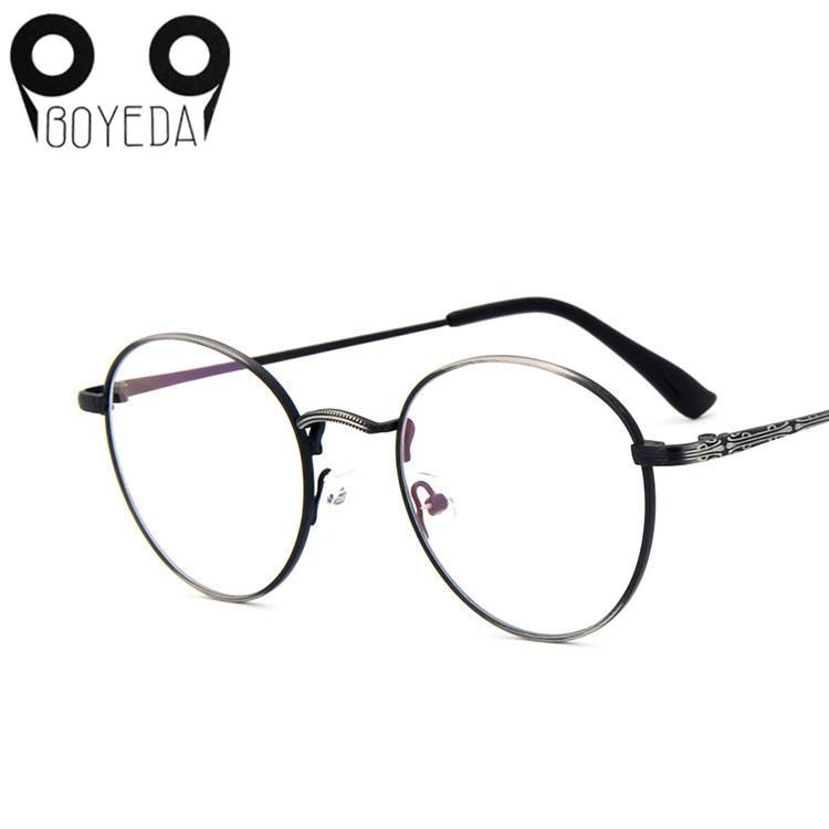 279ffccaabc Detail Feedback Questions about BOYEDA New High Quality Men Women Retro  Round Metal Eyeglasses Frames Korean Myopia Glasses Frame Harry Potter  Optical ...
