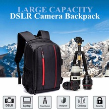 Upgrade Waterproof multi-functional Digital DSLR Camera Video Bag with Rain Cover SLR Camera Bag PE Padded for Photographer