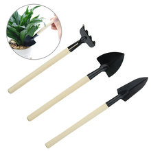 цена на 3PC Gardening Tools Mini Garden for Tools Small Shovel Hoe Hoe Plant Potted Bonsai Flowers Seedling Planting Tool Decoration