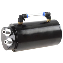 цены на New arrival! 750ML Round Billet Aluminum Black Racing Engine Oil Catch Reservoir Tank / Can  в интернет-магазинах