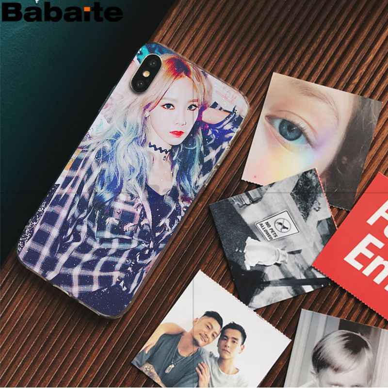Babaite Taeyeon Yoona SNSD โทรศัพท์เดิมสำหรับ iPhone ของ Apple iPhone 8 7 6 6S PLUS X XS MAX 5 5S SE XR มือถือ