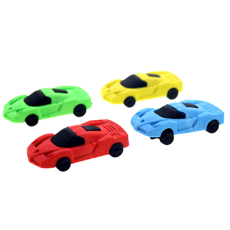 1pcs Colorful Rubber Wood Premium Sports Car Styling Eraser Quality Student School Supplies 2020 New Year Gift