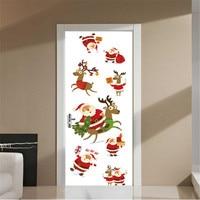 IDFIAF New wall stickers cartoon Santa Claus Christmas store bedroom decorative wall stickers