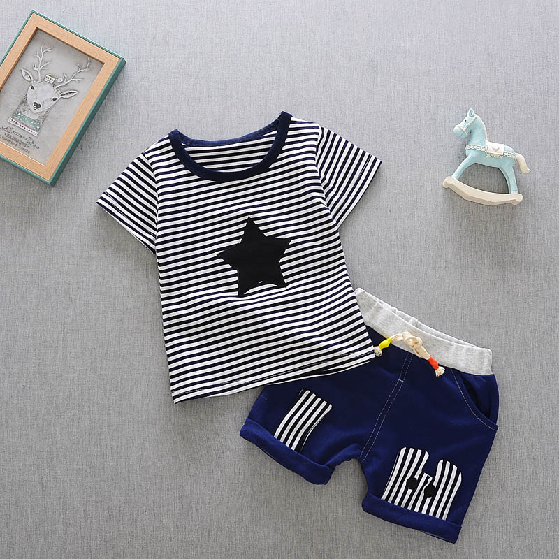 2017New-Summer-baby-sets-boys-girls-clothes-short-Sleeve-T-shirt-cotton-shorts-with-Animal-print-children-clothing-set-suit-3