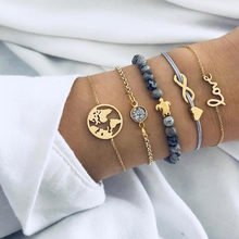 Bohemian Turtle Charm bracelets bangles for women fashion Gold Color Strand bracelets sets party jewelry gifts(China)
