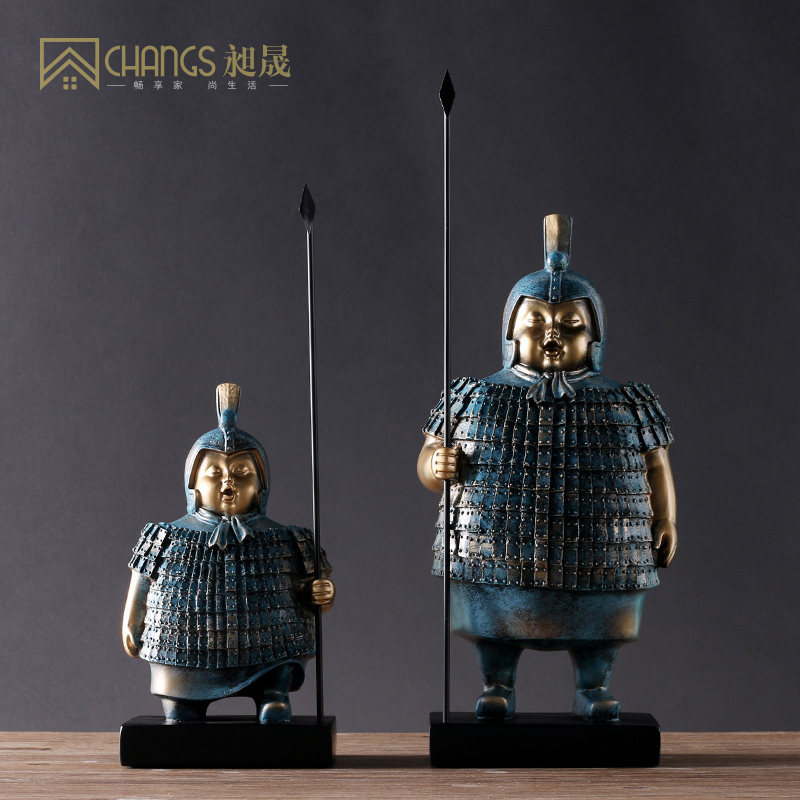 Chinese-style furnishings, household ornaments, Terracotta Warriors and Horses of Qin Dynasty