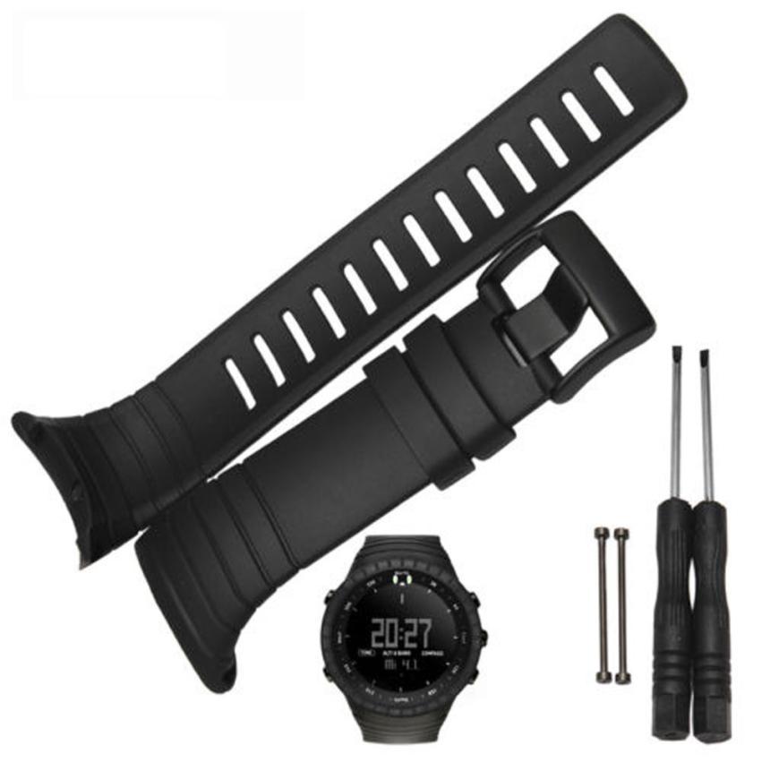 где купить  2016 Hot sale Luxury Rubber Watch Replacement Band Strap For SUUNTO CORE SS014993000 Sep 26  по лучшей цене