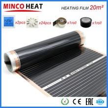 20M2 Infared Elektrische Floor Heater Voor Kamer + Clips Thermostaat