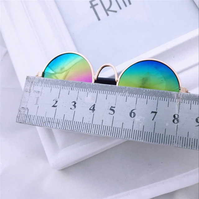 Adorable Colorful Metal Pet Sunglasses