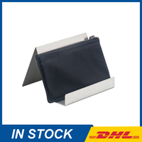 Free Shipping Brass Silver Wallet Display Holder, Purse Display Stand