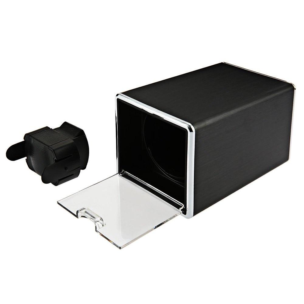 ФОТО High Quality Automatic Rotation Watch Winder Display Box Transparent Cover Jewelry Storage Organizer US Plug Watch Winders Case