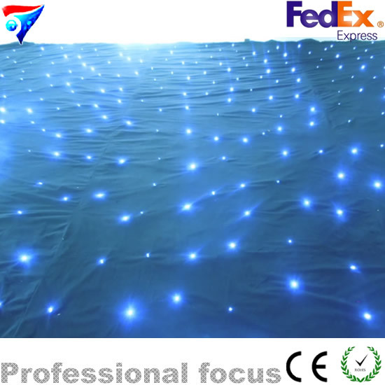 Free Shipping 2m*3m Led Rgb Lamp/ Star Curtain/ Fire Retardant Velvet Material Rgb Curtian Wall 3w led rgb high power led lamp bulbs rgb six legs 350ma 3 2 3 4v taiwan genesis hpo chips free shipping