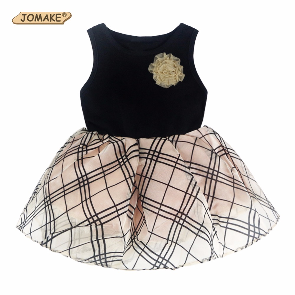2017 Kids Dresses For Girls Plaid Patchwork Girls Clothes Sleeveless Summer Dress Baby Vest Dress vestido infantil Girls Dress summer girls florwer dresses new design 2016 casual cotton sleeveless kids clothes lovely party vest dress infantil vestido hot