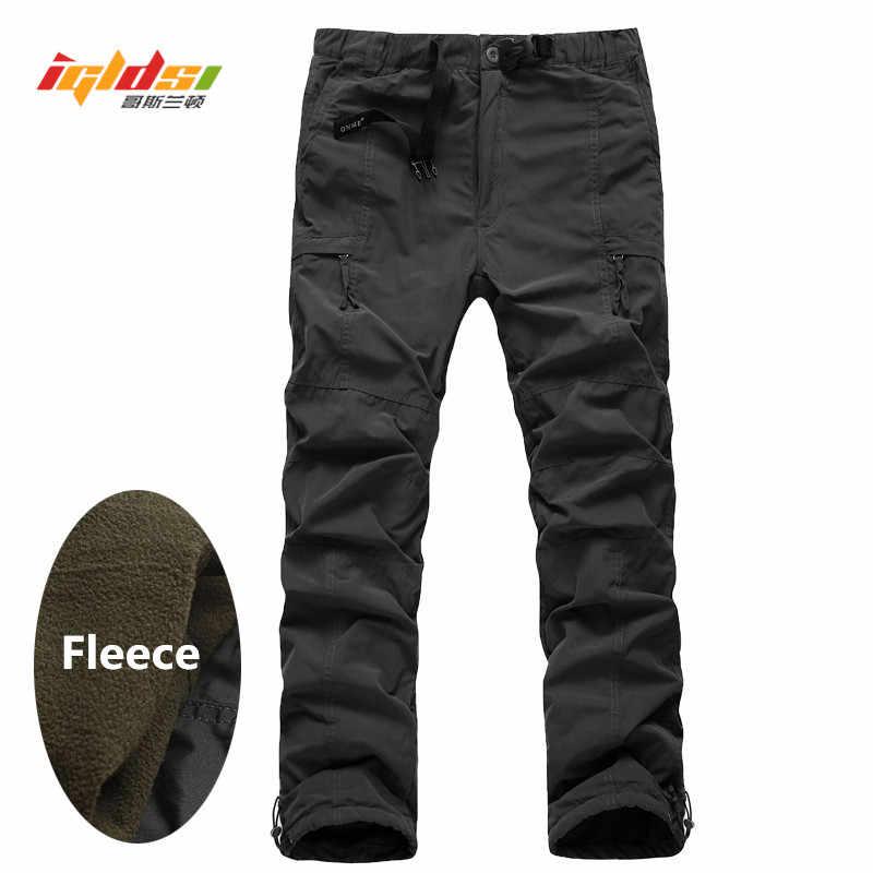 Men/'s Cargo Pants Winter Thicken Fleece Cargo Pants Men Casual Cotton Military