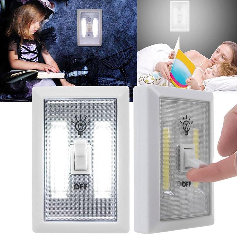 TAIYI Ultra Bright Mini COB Bezprzewodowy włącznik światła ściennego Zasilany bateryjnie LED Lampka nocna 2 Led